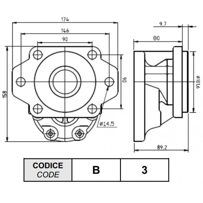 Gear Pump 34.3 cm3 Left SAE B