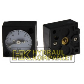 Manometer 0-10bar, square (for G1/4)