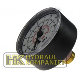 Manometer 0-10bar, G1/4 (for G1/2)