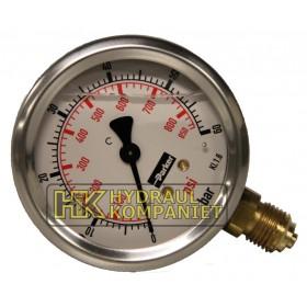 Manometer 63mm 0-100bar Side connection